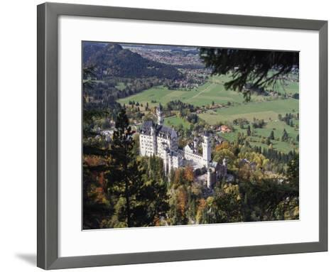 Neuschwanstein Castle, West of Fussen, Bavaria, Germany, Europe-Nigel Blythe-Framed Art Print