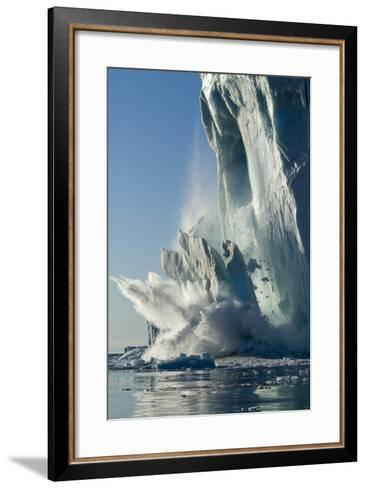 Calving Iceberg in Disko Bay in Greenland--Framed Art Print