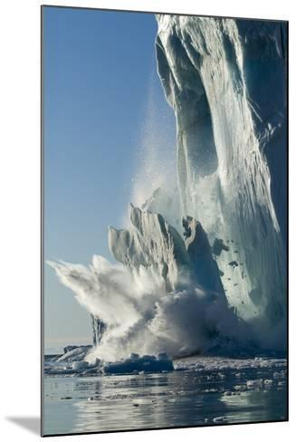 Calving Iceberg in Disko Bay in Greenland--Mounted Photographic Print