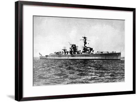 Heavy Cruiser Admiral Scheer--Framed Art Print