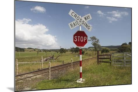 Railroad Crossing--Mounted Photographic Print