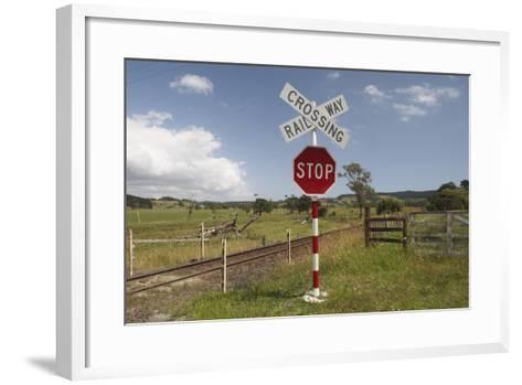 Railroad Crossing--Framed Art Print