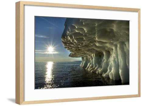 Sea Ice, Hudson Bay, Canada--Framed Art Print