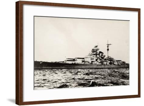The German Battleship Bismarck of the German Kriegsmarine During Early World War II--Framed Art Print