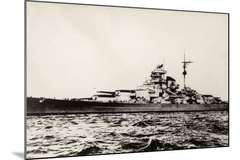The German Battleship Bismarck of the German Kriegsmarine During Early World War II--Mounted Photographic Print