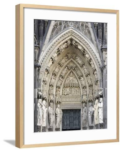 Gothic Nested Arches, Upper Part of Portal of Cologne Cathedral, North Rhine-Westphalia, Germany-Florian Monheim-Framed Art Print