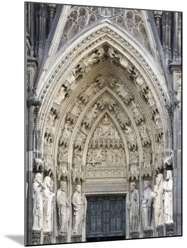 Gothic Nested Arches, Upper Part of Portal of Cologne Cathedral, North Rhine-Westphalia, Germany-Florian Monheim-Mounted Photographic Print