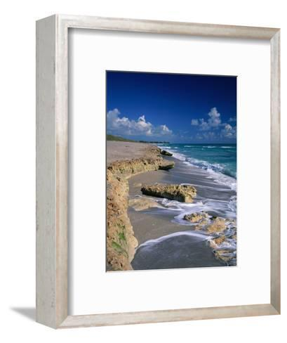 Beach on Jupiter Island-James Randklev-Framed Art Print