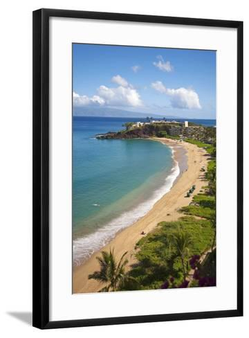 Sheraton Maui Resort and Spa, Kaanapali Beach, Famous Black Rock known for it's Snorkeling-Ron Dahlquist-Framed Art Print
