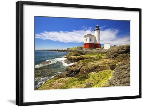 Afternoon Light on Coquille River Lighthouse, Bandon, Oregon Coast, Pacific Ocean-Craig Tuttle-Framed Art Print