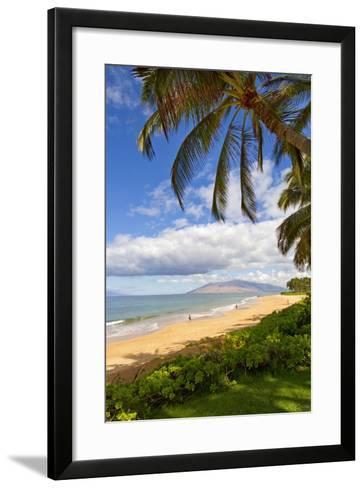 Keawakapu Beach, Wailea on Island of Maui, Hawaii-Ron Dahlquist-Framed Art Print