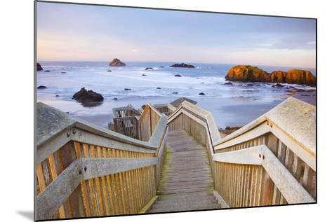 Rock Formations at Low Tide, Bandon Beach, Oregon Coast, Pacific Northwest. Pacific Ocean-Craig Tuttle-Mounted Photographic Print