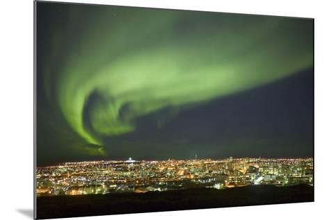 Aurora Borealis over Reykjavik-Arctic-Images-Mounted Photographic Print