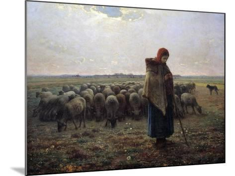 The Great Shepherdess by Jean-Francois Millet--Mounted Photographic Print