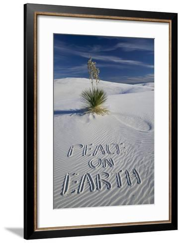 Peace on Earth Written in Sand-Darrell Gulin-Framed Art Print