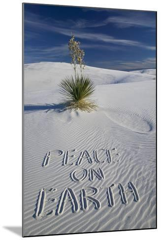 Peace on Earth Written in Sand-Darrell Gulin-Mounted Photographic Print