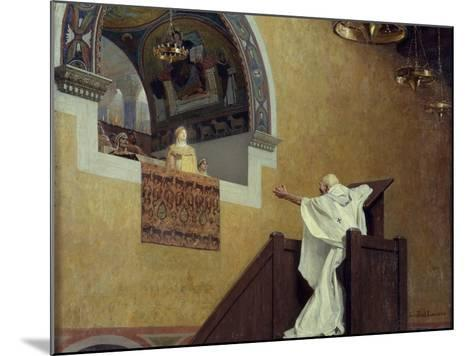 Saint John Chrysostom Confronting the Empress Eudoxia by Jean Paul Laurens--Mounted Photographic Print