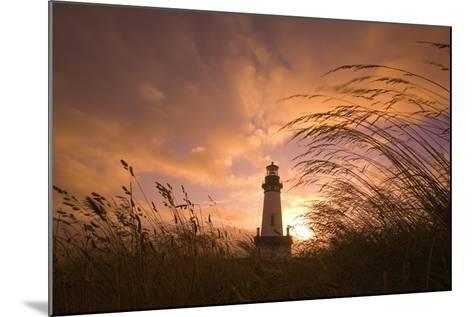 Yaquina Head Lighthouse at Sunset-Craig Tuttle-Mounted Photographic Print