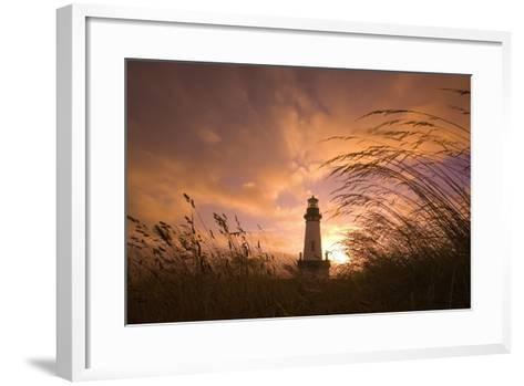 Yaquina Head Lighthouse at Sunset-Craig Tuttle-Framed Art Print