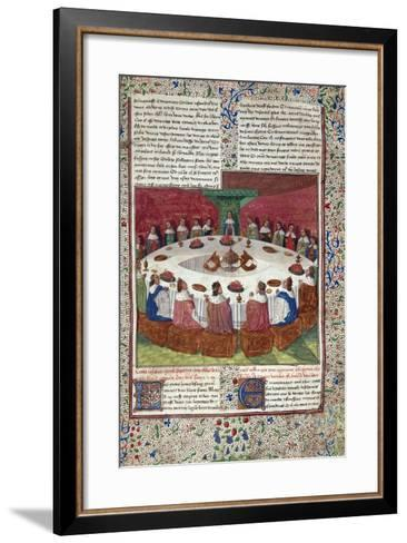 The King Arthur and the Knights of the round Table--Framed Art Print