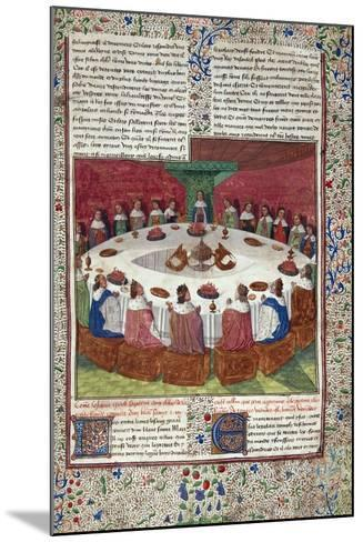 The King Arthur and the Knights of the round Table--Mounted Photographic Print