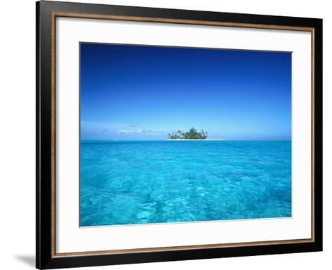 Sparkling Ocean and Tropical Island-Craig Tuttle-Framed Art Print