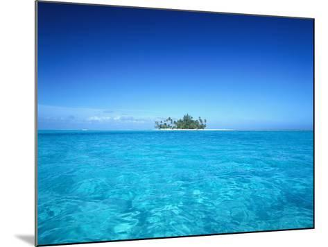 Sparkling Ocean and Tropical Island-Craig Tuttle-Mounted Photographic Print