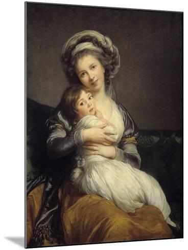 Self-Portrait in a Turban with Her Child by Elisabeth Louise Vigee-Lebrun--Mounted Photographic Print