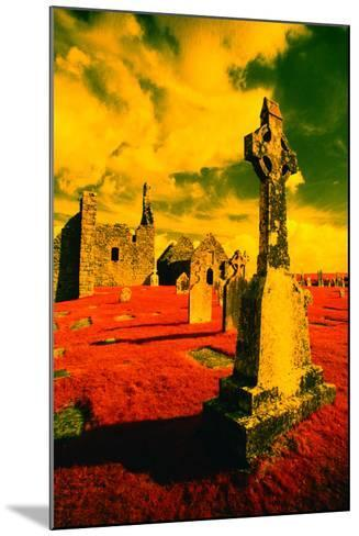 Stone Crosses and Ruins in a Bizarre Landscape-Richard Cummins-Mounted Photographic Print