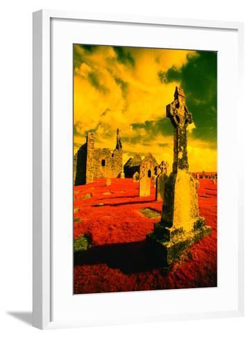 Stone Crosses and Ruins in a Bizarre Landscape-Richard Cummins-Framed Art Print