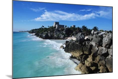Mexico, Yucatan Peninsula, Carribean Sea at Tulum, the Only Mayan Ruin by Sea-Chris Cheadle-Mounted Photographic Print