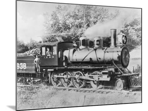 Engineer Casey Jones on Engine No. 638-J.E. France-Mounted Photographic Print