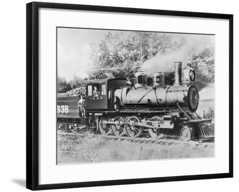 Engineer Casey Jones on Engine No. 638-J.E. France-Framed Art Print