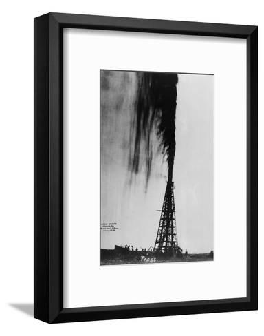 Oil Gushing Over--Framed Art Print