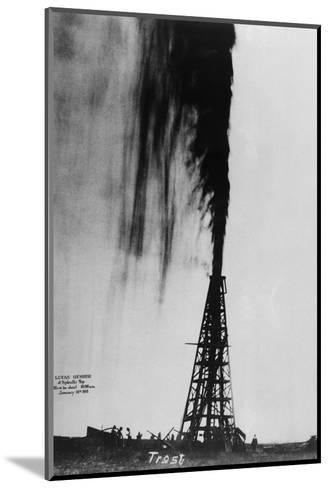 Oil Gushing Over--Mounted Photographic Print