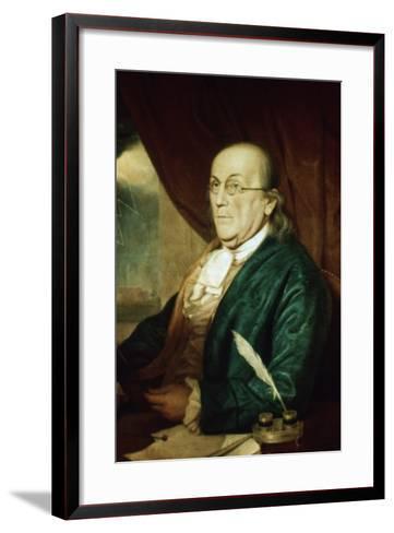Portrait of Benjamin Franklin--Framed Art Print