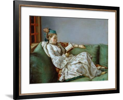 Portrait of Marie Adelaide of France by Jean-Etienne Liotard--Framed Art Print