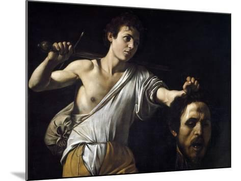 David with the Head of Goliath by Caravaggio--Mounted Photographic Print