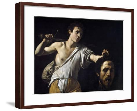 David with the Head of Goliath by Caravaggio--Framed Art Print