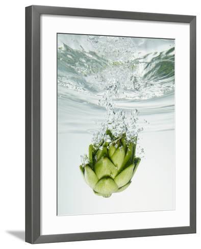 Artichoke in Water-Biwa-Framed Art Print