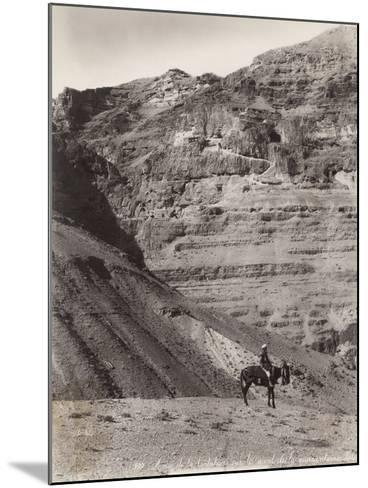Palestinian Man on Donkey--Mounted Photographic Print