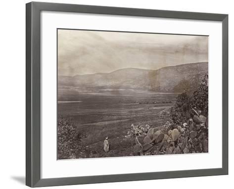 Palestinian Man Looks out over Plains--Framed Art Print