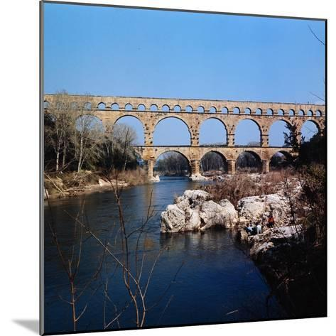 Pont Du Gard Aqueduct in France-Philip Gendreau-Mounted Photographic Print