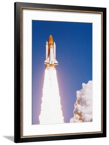 Challenger Space Shuttle Lifting Off--Framed Art Print
