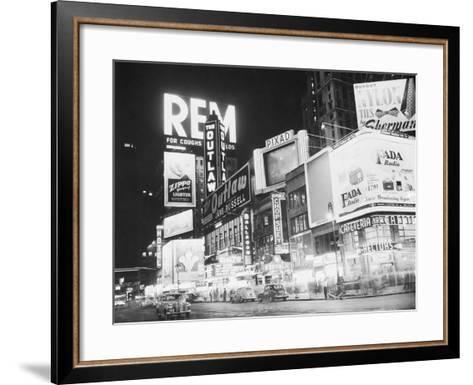 Times Square Nightlife--Framed Art Print