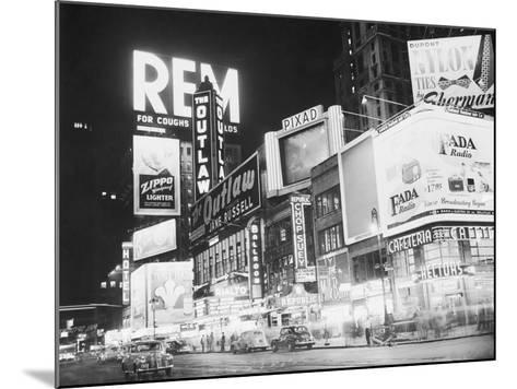 Times Square Nightlife--Mounted Photographic Print