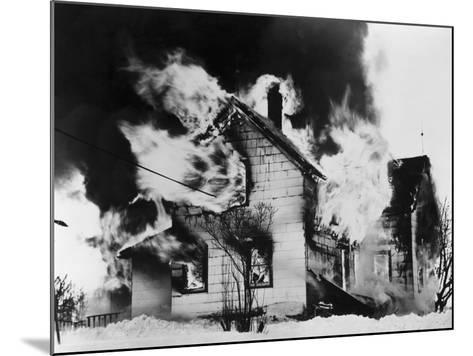Burning House in Winter--Mounted Photographic Print