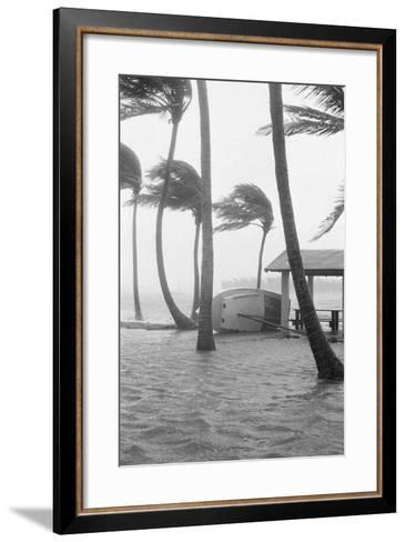 Boat Overturned by Hurricane Winds--Framed Art Print