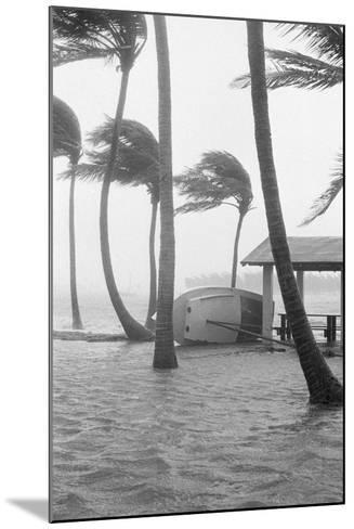 Boat Overturned by Hurricane Winds--Mounted Photographic Print