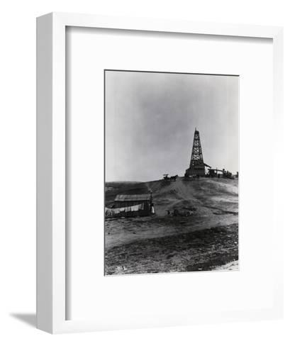 Early Oil Drilling Operation--Framed Art Print